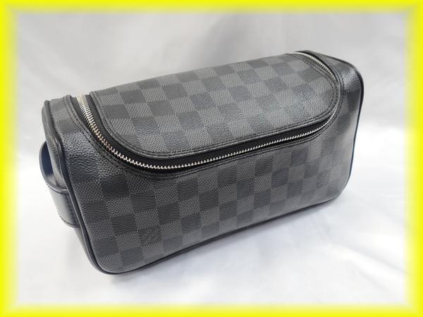 ルイヴィトン ダミエグラフィット トワレ・ポーチ N47625 セカンドバッグ