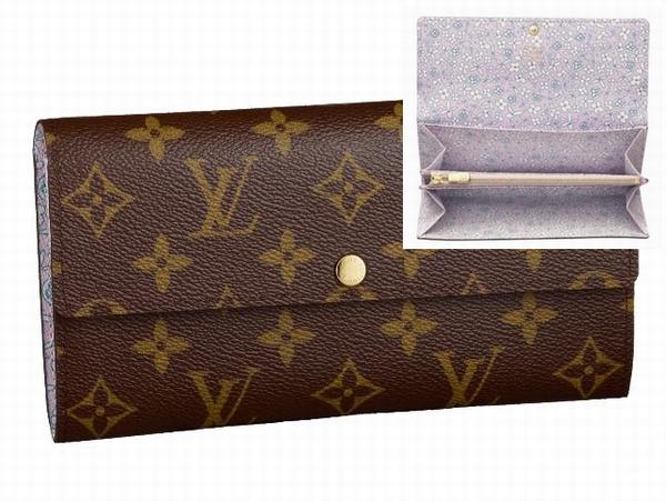 ルイヴィトン モノグラム・フリル ファスナー式長財布 M60232(ローズ)