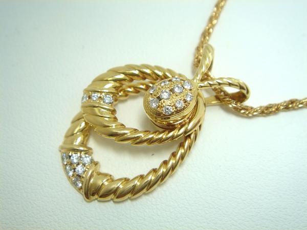 K18 ウォルサム ダイヤ ネックレス
