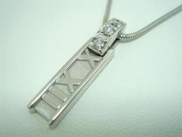 K18WG ティファニー ダイヤ ネックレス アトラス
