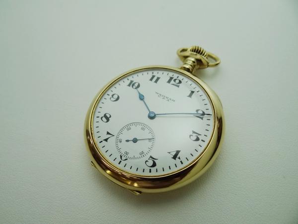 K18ウォルサム 懐中時計 手巻き