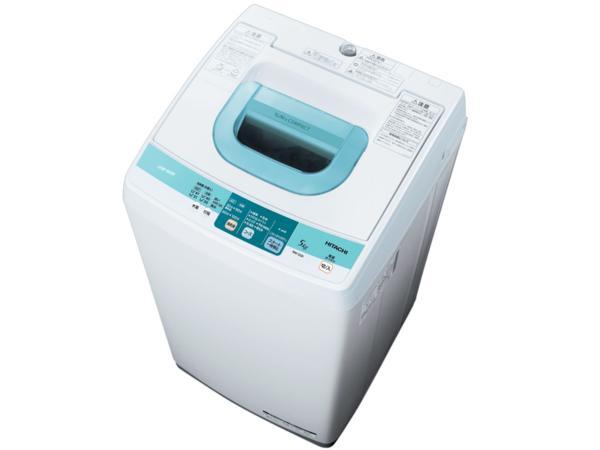 日立 全自動電気洗濯機 NW-5SR ピュアホワイト
