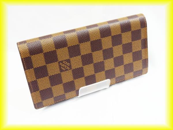 ルイヴィトン N60017 ダミエ 長財布 ポルトフィユ・ブラザ
